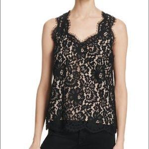 Joie | Sleeveless Black Lace 'Cina' Blouse